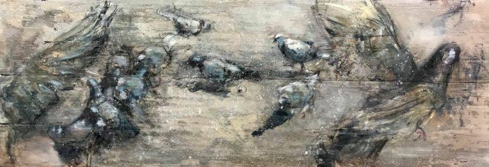 Duiven VII, afm. 155 x 56 cm