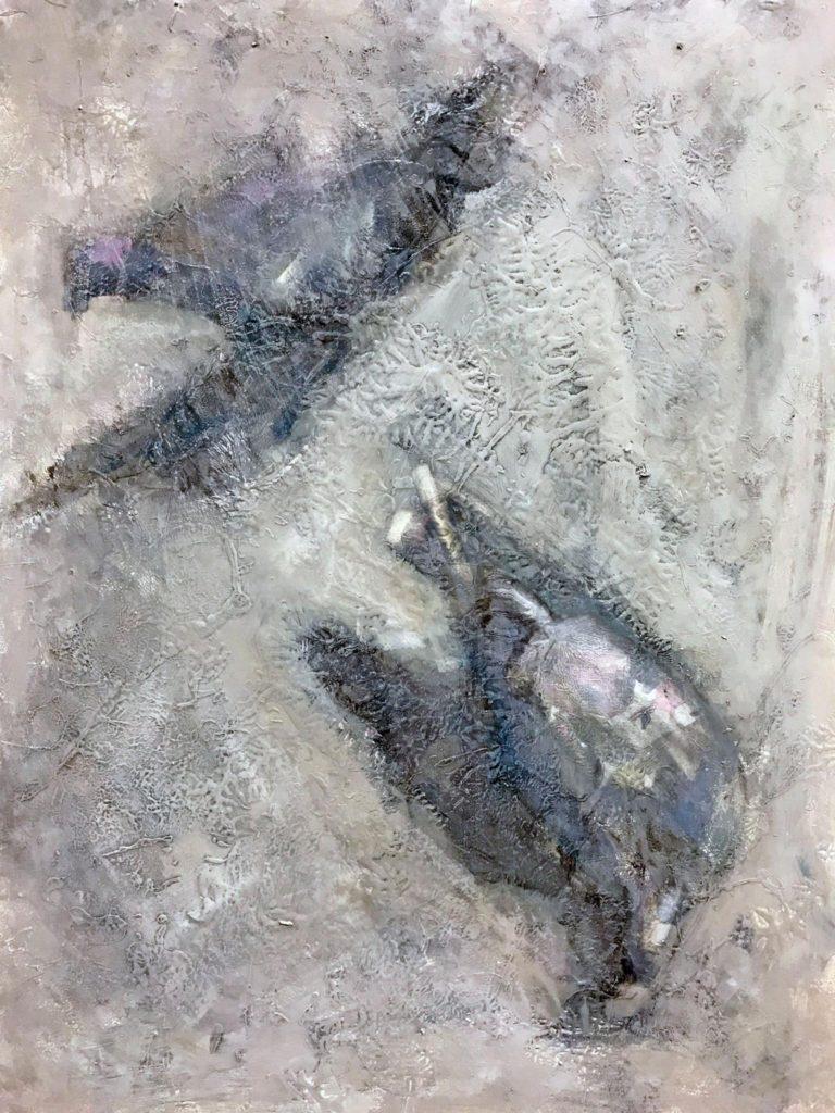 Duiven IV, afm. 60 x 80 cm